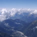 4810mnpm - widok z Mont Blanc  by Mat Strange
