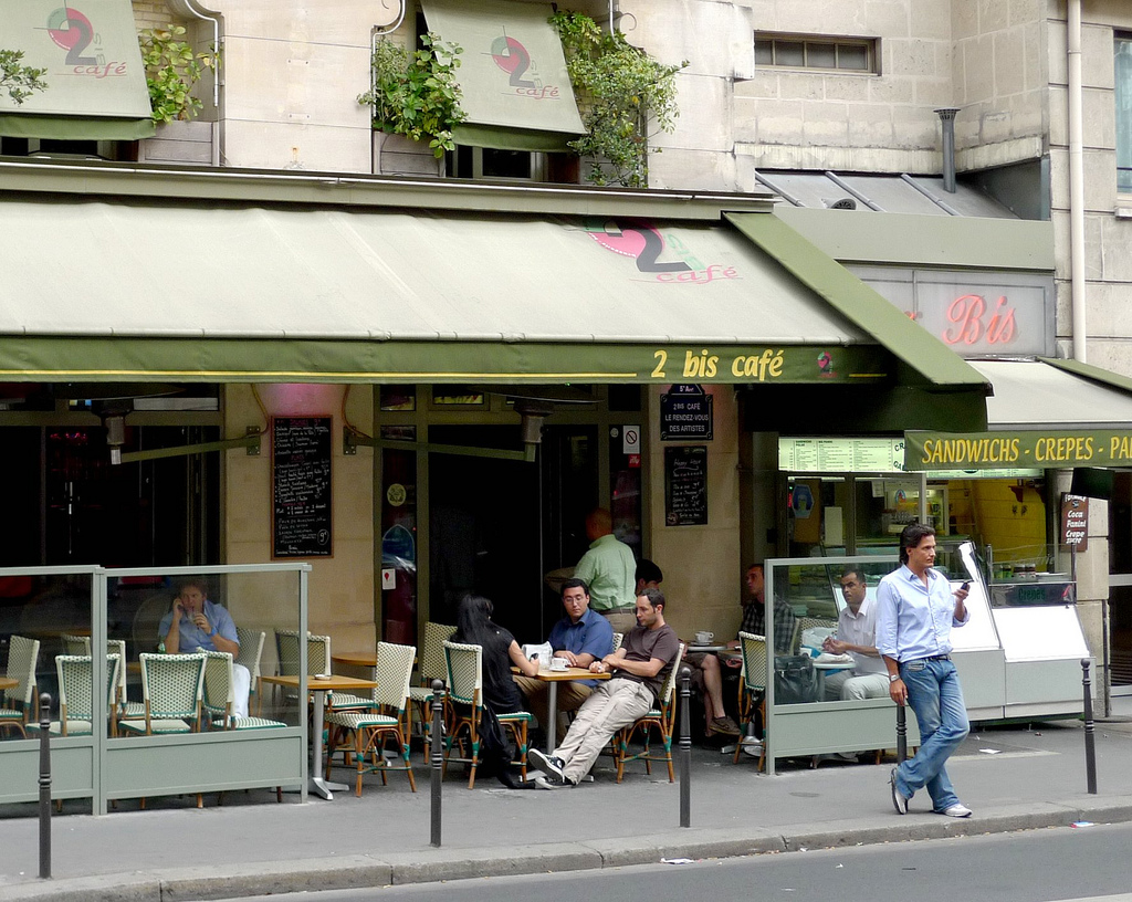 Bistro 2 bis caffe w Paryżu  by zoetnet