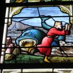 Ciekawy motyw jak na kościelny witraż - Chartres - katedra - by ho visto nina volare
