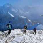 Fragment szlaku na Mont Blanc by widhibek