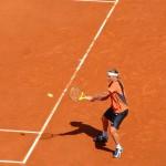 Gra w tenisa podczas French Open - zawodniczka - by Dionetian