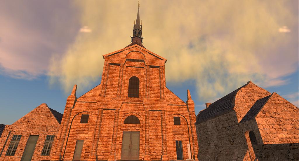 Jeden z budynków Mont Saint Michel by Wyatt Wellman