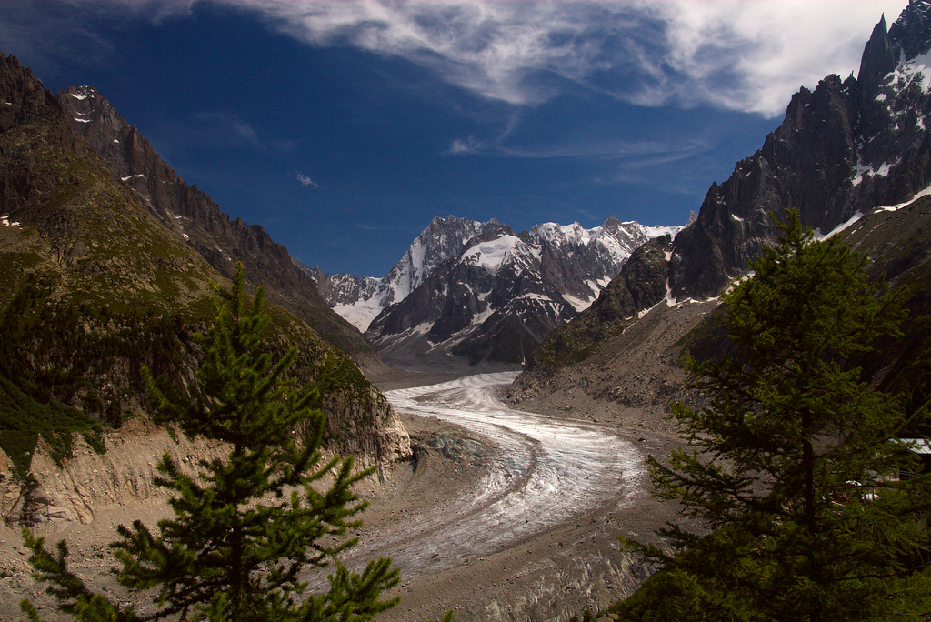 Jedna z z tras na Mont Blanc obok Mer de Glace - by Alistair Knock