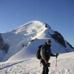 Już prawie na szczycie Mont Blanc by mer de glace