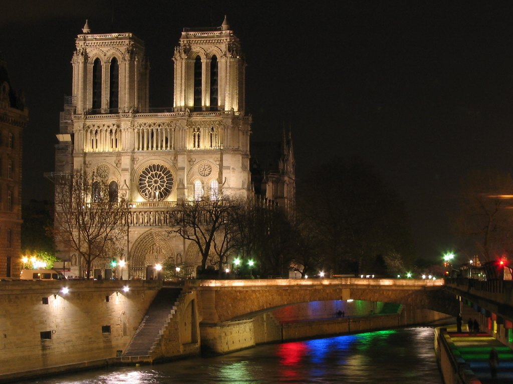 Katedra Notre Dame w Paryżu nocą - by RuiPereira