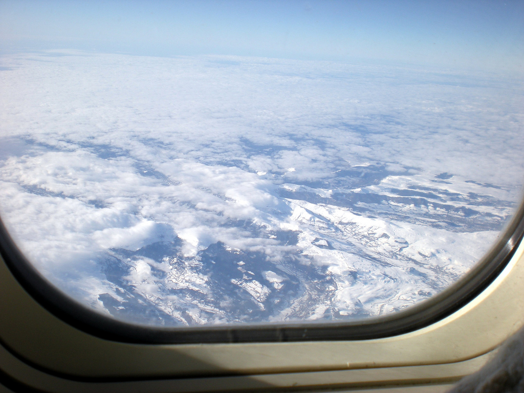 Masyw Centralny Zimą - widok z góry - by tortipede