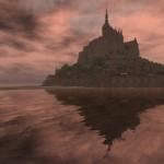 Mroczny Mont Saint Michel - Dookoła woda - ocean - by redesigns