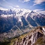 Najwyższy szczyt Europy - Mont Blanc - widok z Chamonix - by Zanthia