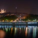 Fournière vu de la Saône de nuit