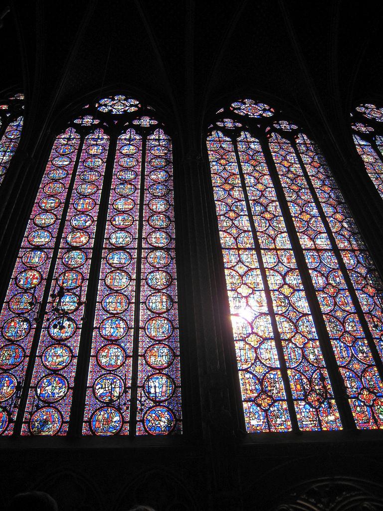 Ogromne okna kapilicy Saint Chapelle - by switchhook