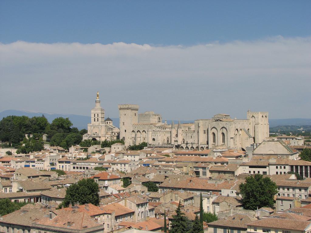 Panorama Awinionu - Pałac Papieży w oddali by kahala