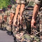 Pochód francuskich żołnierzy by escalepade