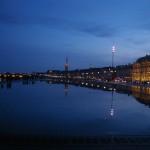 Pord w Bordeaux nocą - by clodius_maximus