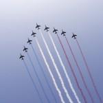 Samoloty rysujące flagę francji w dniu rocznicy zdobycia Bastylii - 14 lipca - by Waqqas
