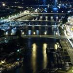 Sekwana - skupisko mostów - nocny widok - by zigazou76