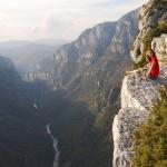 Siedząc na krawędzi Kanionu Verdon - niesamowity widok - by myblackboxrocks