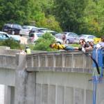 Skok z francuskiego mostu na bungee by rhodeson