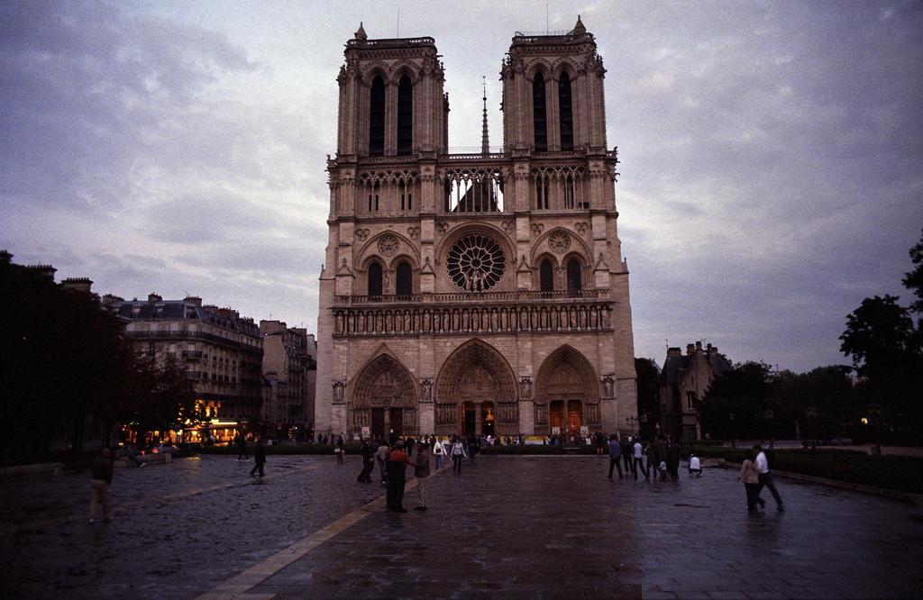 Stojąc na przeciwko katedry Notre Dame w Paryżu - by rien nothing