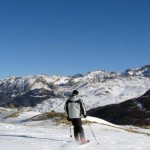 Stok narciarksi w Skiing Risoul we Francji by pimhorvers