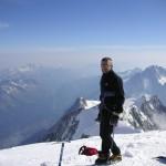 W drodze na Mont Blanc by mer de glace