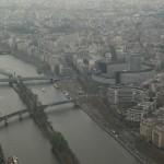 Widok rzeki z wieży Eiffla by Arek Olek