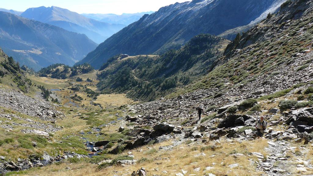 Widok z Coma Pedrosa w Pirenejach by mattyhike