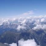 Widok z Mont Blanc - Najwyższego szczytu Europy - by Mat Strange