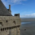 Widok z murów Mont Saint Michel by ecololo