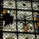 Witraż - prawdziwe dzieło sztuki w Chartres by ho visto nina volare