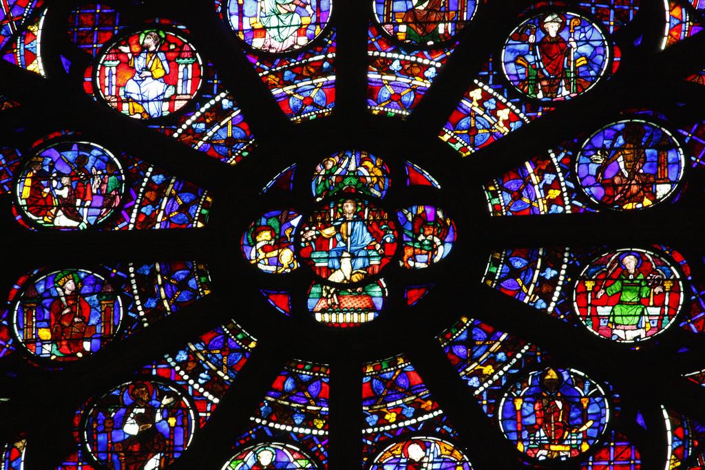 Witraże - Katedra Notre Dame - Paryż - by batigolix
