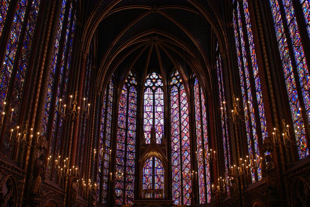 Wnętrze kaplicy Saint Chapelle - by randihausken