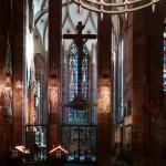 Wnętrze katedry ND w Strasburgu by ...johann j.m.