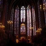 Wnętrze katedry Saint Chapelle we Francji by cioccithebest