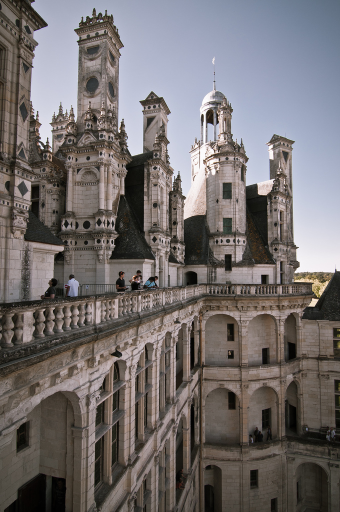 Zamek Chambord z bliska - by Archigeek