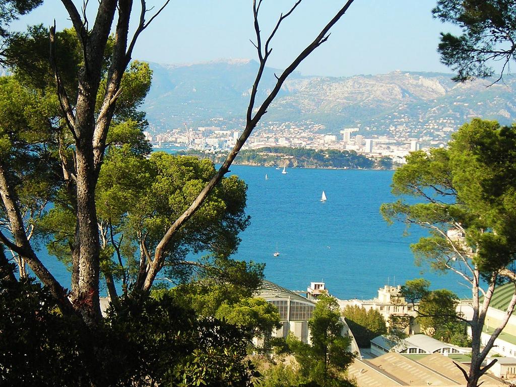 Widok z okna jednego z apartamentów - Francja - Lazurowe Wybrzeże  by thierry llansades
