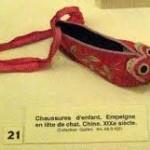 Chińskie buty dziecięce - Muzeum butów w Romans we Francji