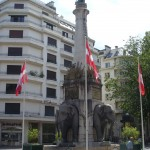Fontanna ze słoniami w Chambery we Francji - by candyschwartz