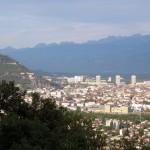 Grenoble vue de la route qui monte à St Nizier
