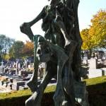 Oryginalna rzeźba - nagrobek - Pere Lachaise - cmentarz - Paryż - Francja - by dspain