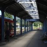 Peron na stacji kolejowej w Chamonix - by vasile23