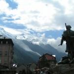 Piękny widok Alp z miejscowości Chamonix -  by Tournachon