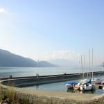 Przystań na jeziorze Bourget we Francji -  by Thomas Favre-Bulle