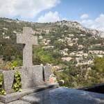Wisoka Eze we Francji - widok z cmentarza - by jimmyweee