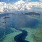 Mojotta - widok wyspy z samolotu